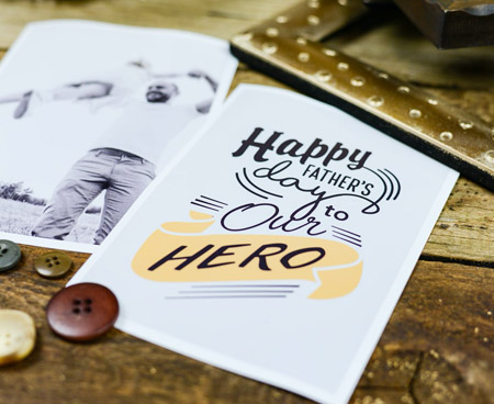 happy fathers days card printing